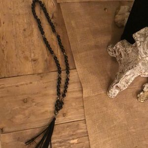 Ladies necklace with long tassel great condition